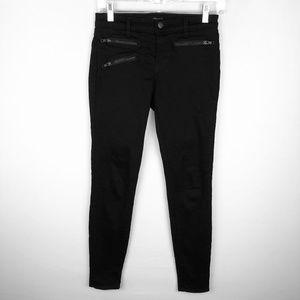 J Brand Black Zoey Moto Zip Skinny Jeans in Jett